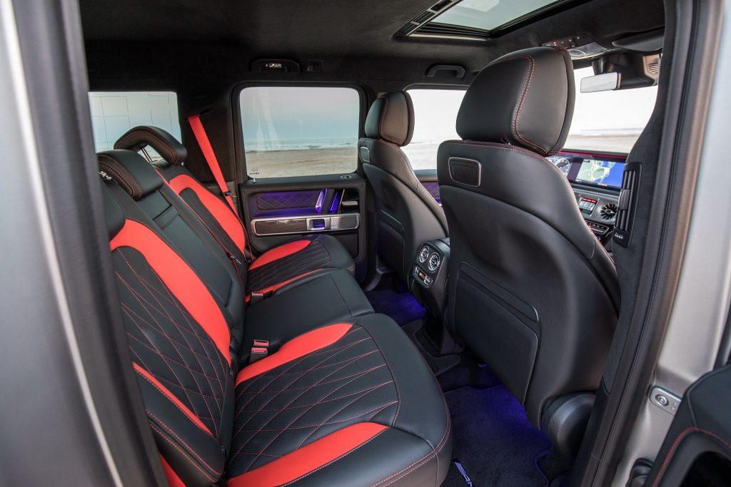 Mercedes-Benz G-Class 2018, задние сиденья