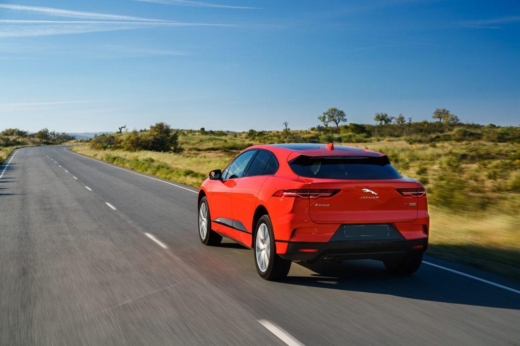 Jaguar I-Pace 2018, вид сзади