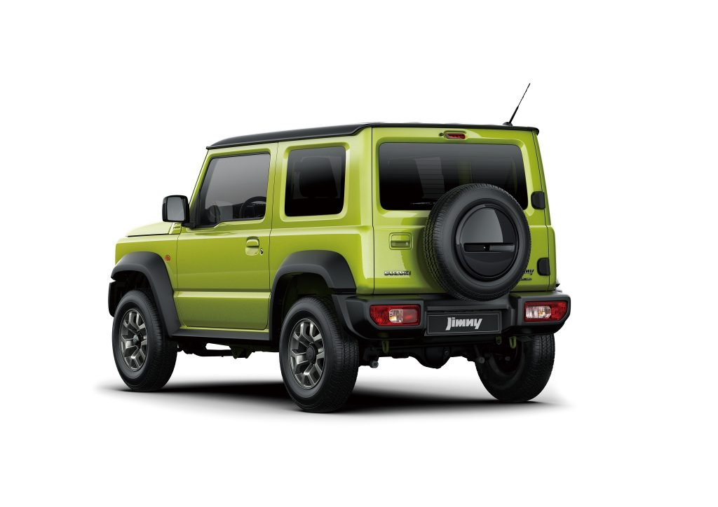 Новый Suzuki Jimny, вид сзади