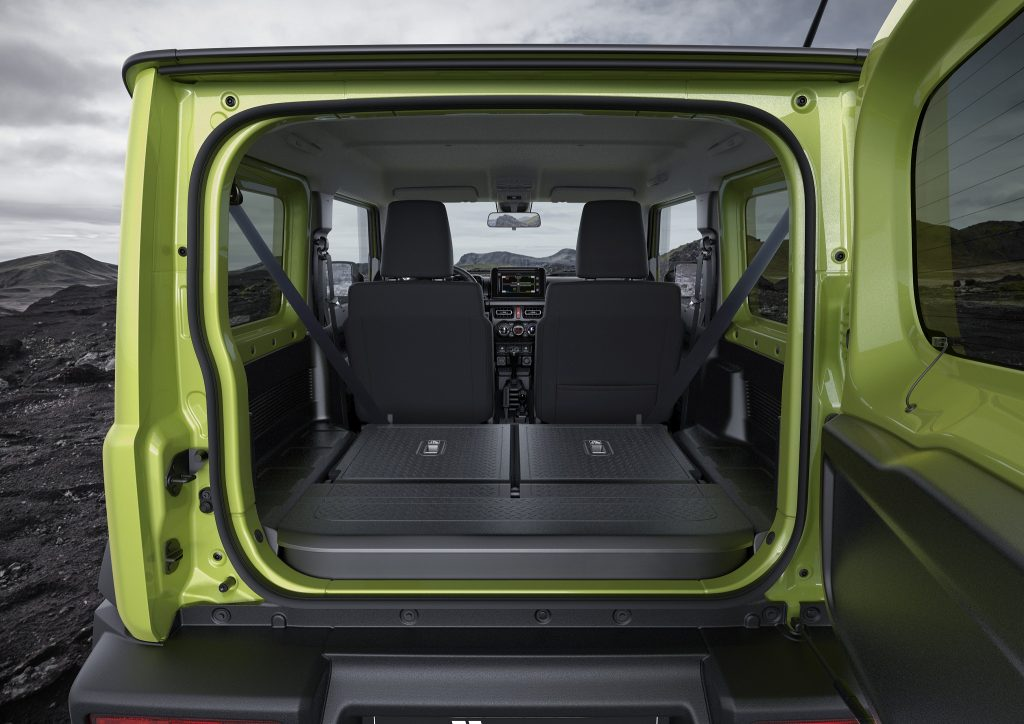 Suzuki Jimny 2018, багажник