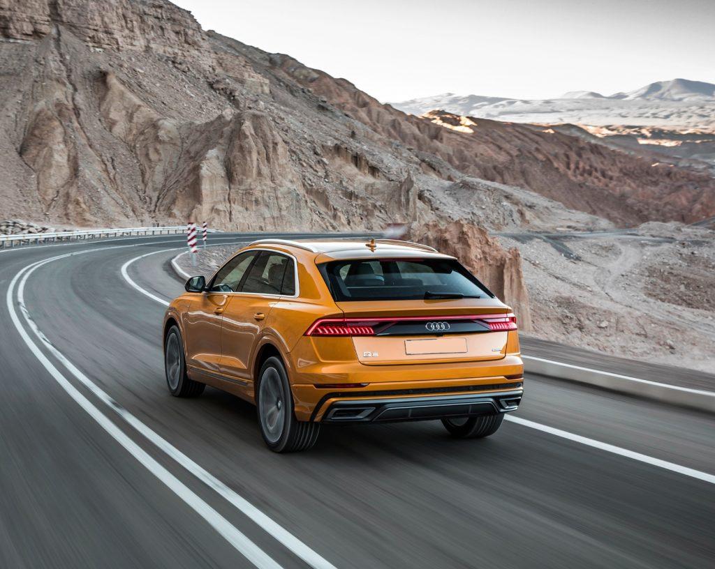Audi Q8 2018, вид сзади