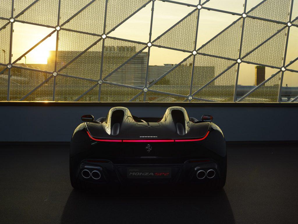 Ferrari Monza 2019, вид сзади