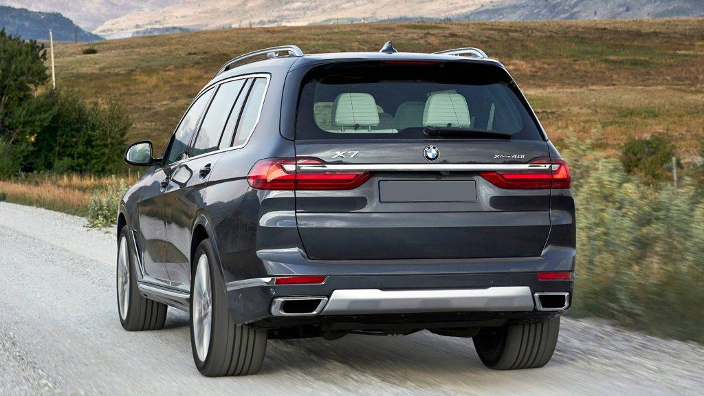 BMW X7 2019, вид сзади