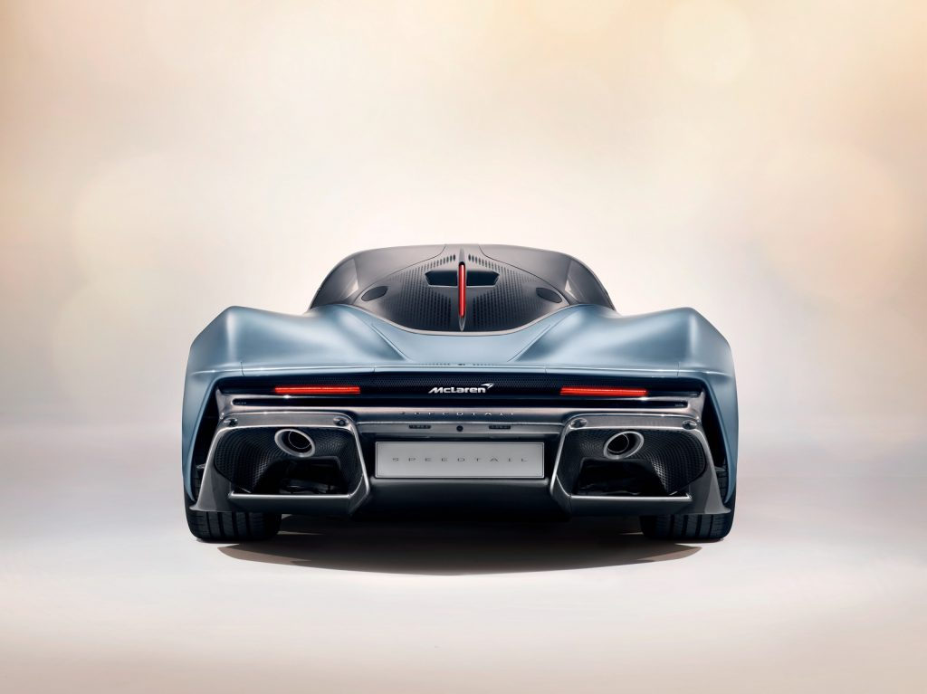 McLaren Speedtail 2019, вид сзади