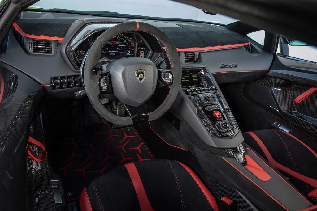 Lamborghini Aventador SVJ, передняя панель