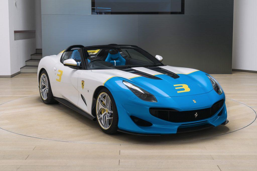 Ferrari SP3JC, вид на переднюю диагональ