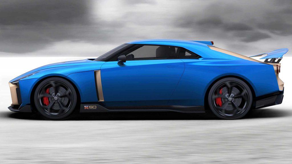 Nissan GT-R50 2019, вид сбоку