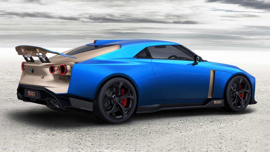 Новый Nissan GT-R50, вид на заднюю диагональ