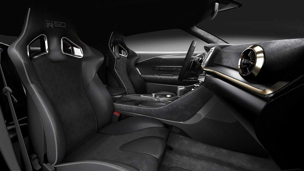 Nissan GT-R50, передние сиденья