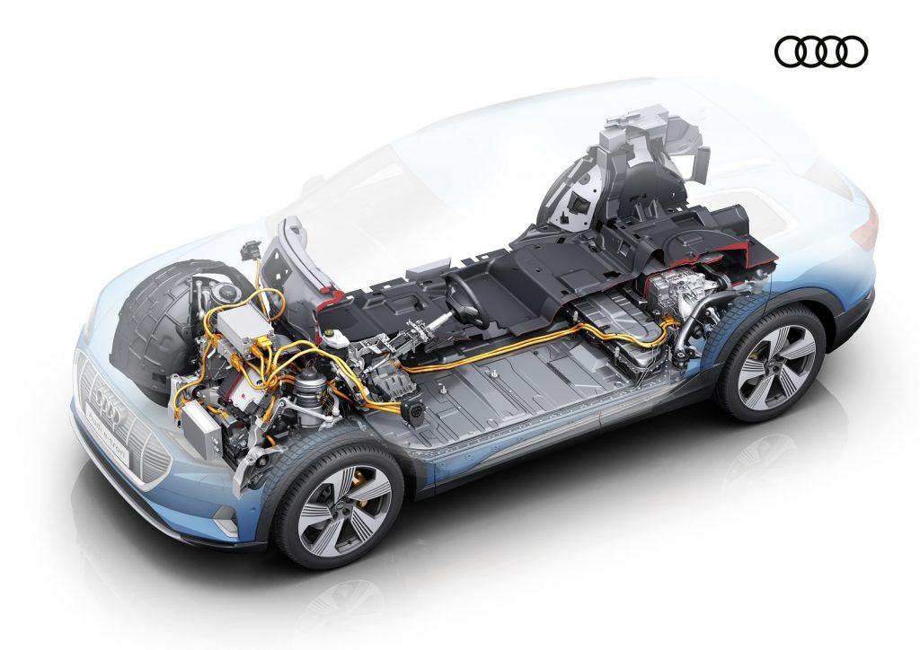 Новый Audi e-tron в разрезе