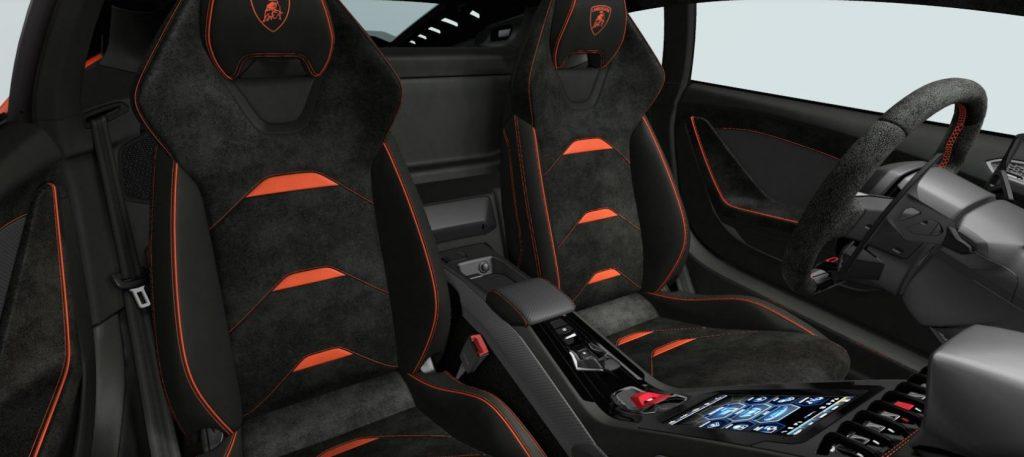 Новый Lamborghini Huracan Evo, сиденья