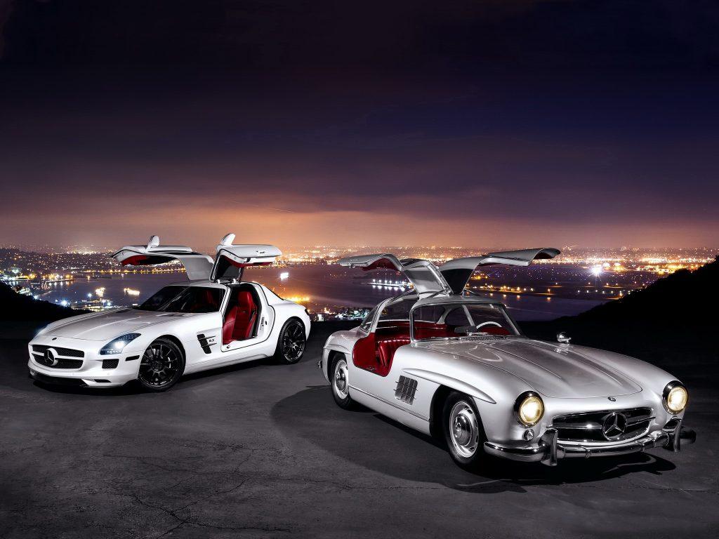 Легендарный Gullwing и его современный преемник Mercedes-Benz SLS AMG