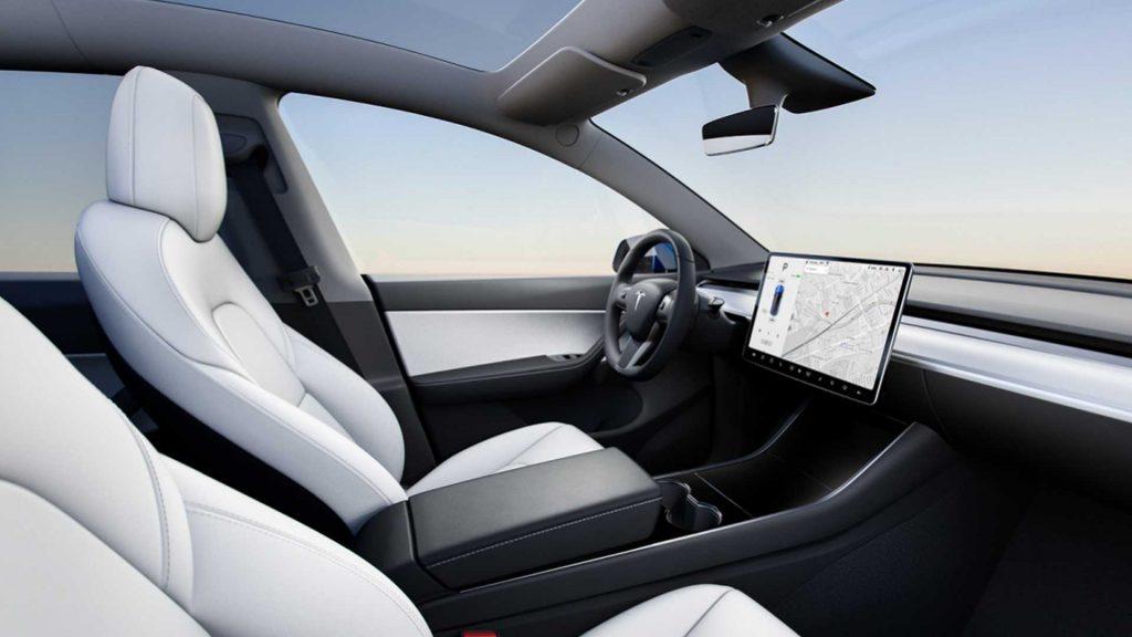 Новый Tesla Model Y, салон