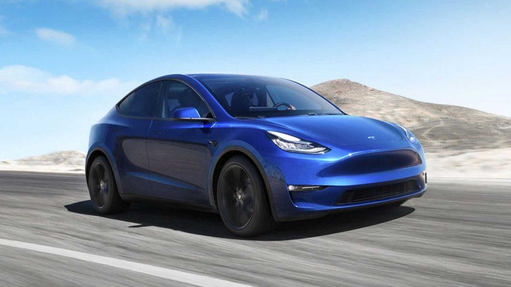 Tesla Model Y 2020, вид спереди