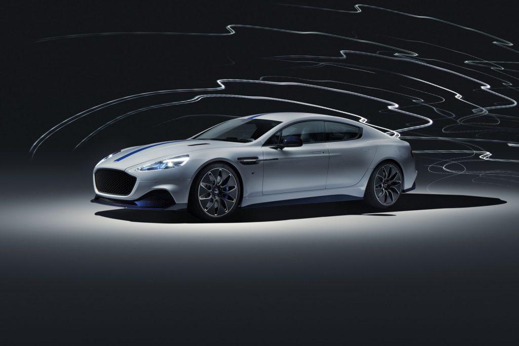 Aston Martin RapidE 2019, вид на переднюю диагональ