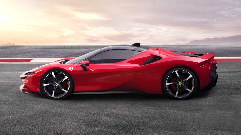 Ferrari SF90 Stradale 2019, вид сбоку