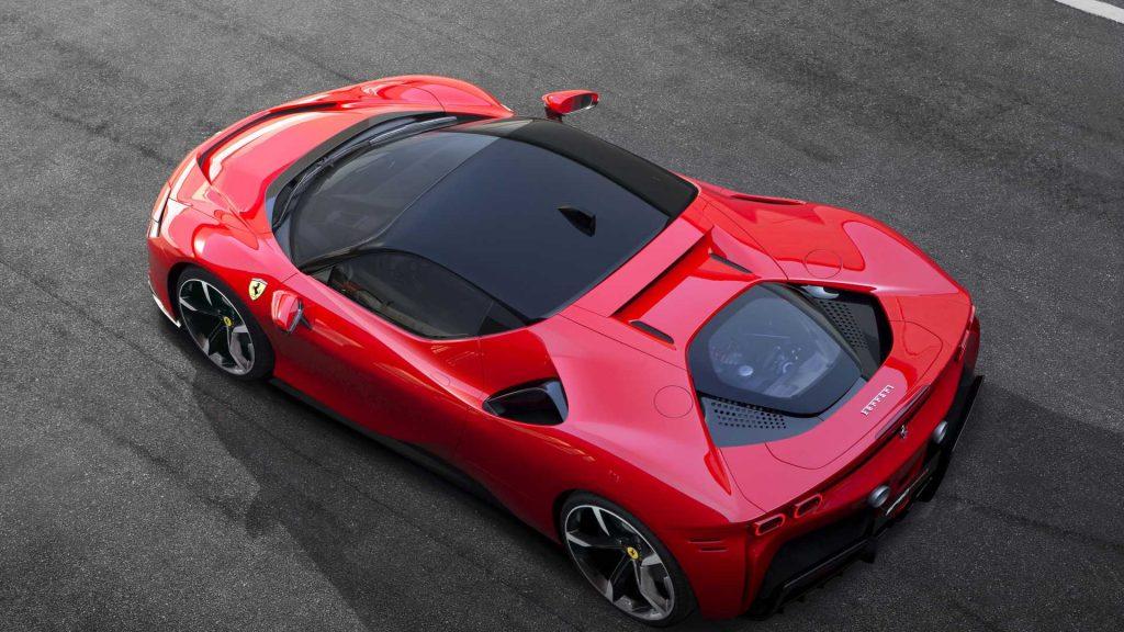 Ferrari SF90 Stradale 2019, вид сверху