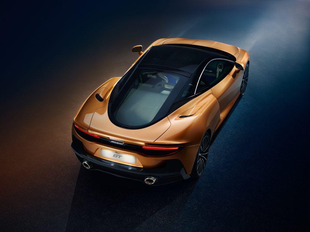 McLaren GT 2019, вид сзади