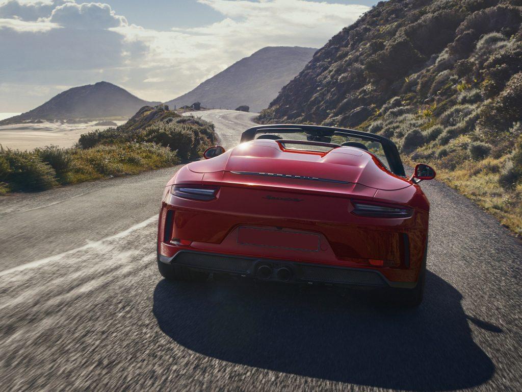 Porsche 911 Speedster 2019, вид сзади