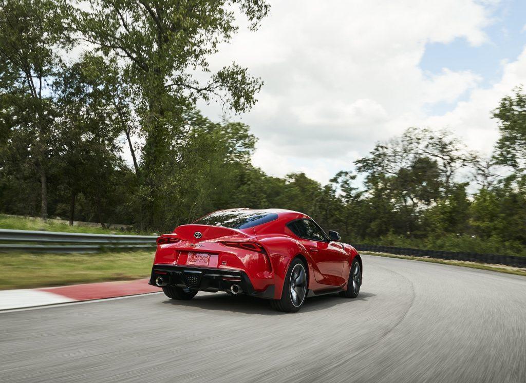 Toyota Supra 2019, вид сзади
