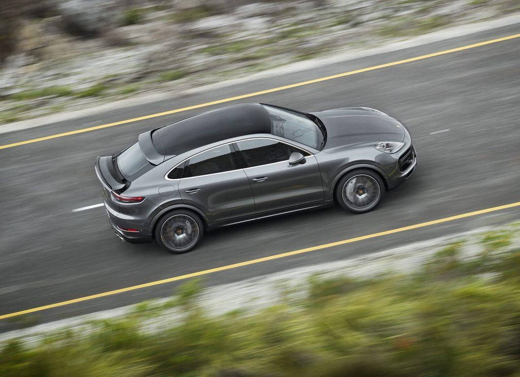 Новый Porsche Cayenne Coupe, вид сверху