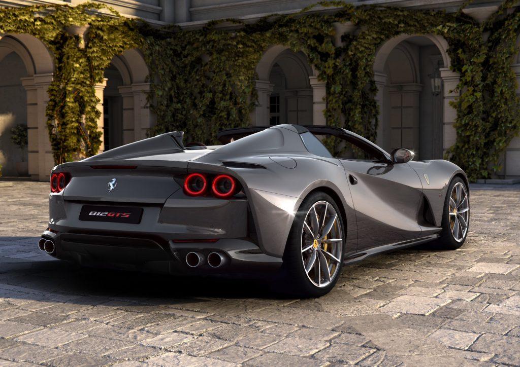 Ferrari 812 GTS 2020, вид сзади