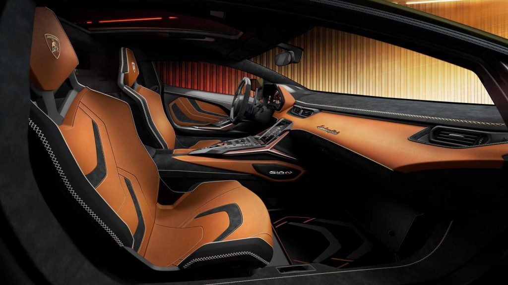 Новый Lamborghini Sian, сиденья