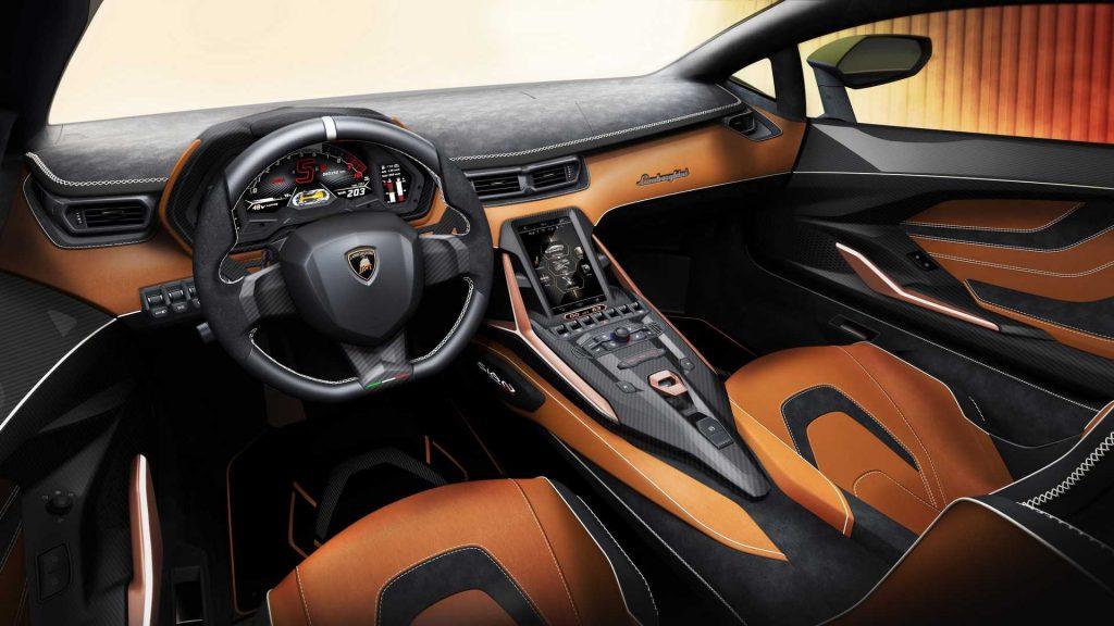 Новый Lamborghini Sian, передняя панель
