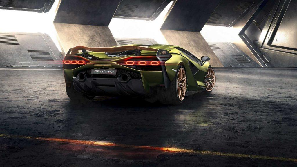 Lamborghini Sian 2019, вид сзади