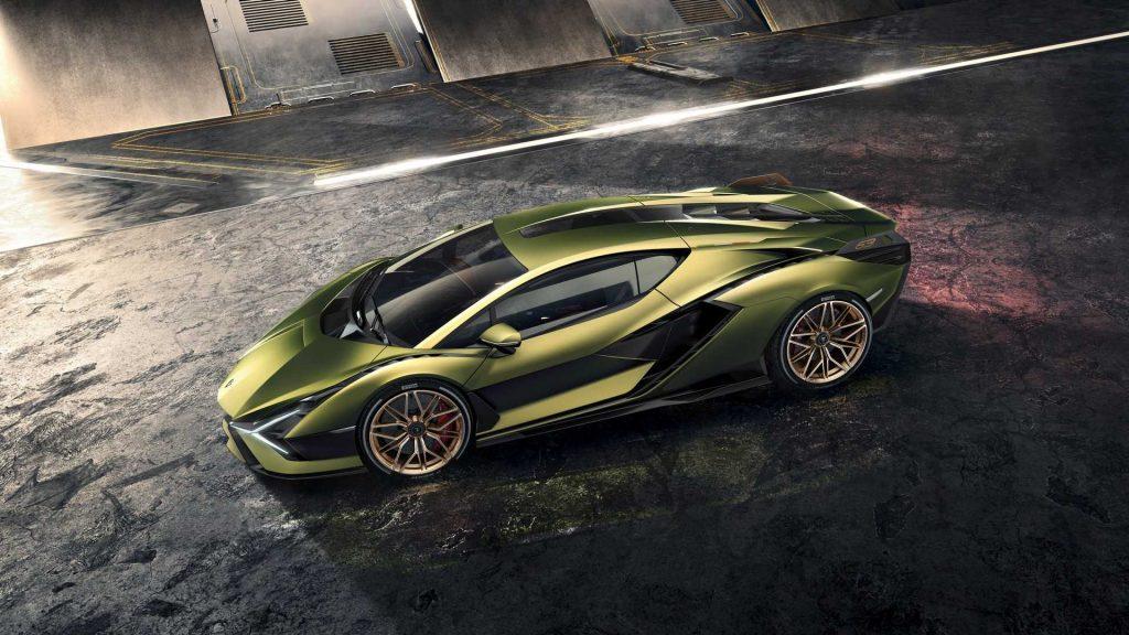 Lamborghini Sian 2019, вид сбоку