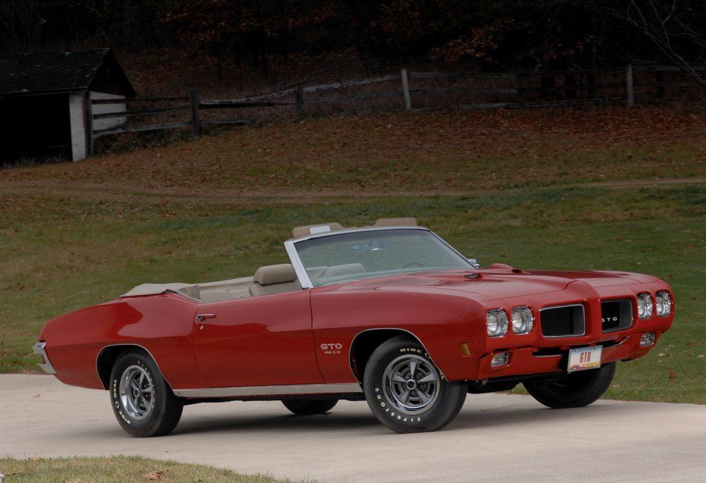 Кабриолет Pontiac GTO 1970 года