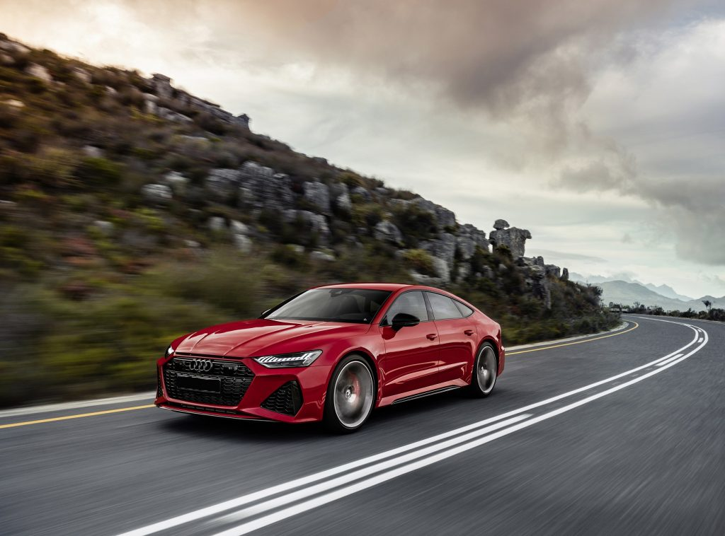Audi RS7 Sportback, вид на переднюю диагональ