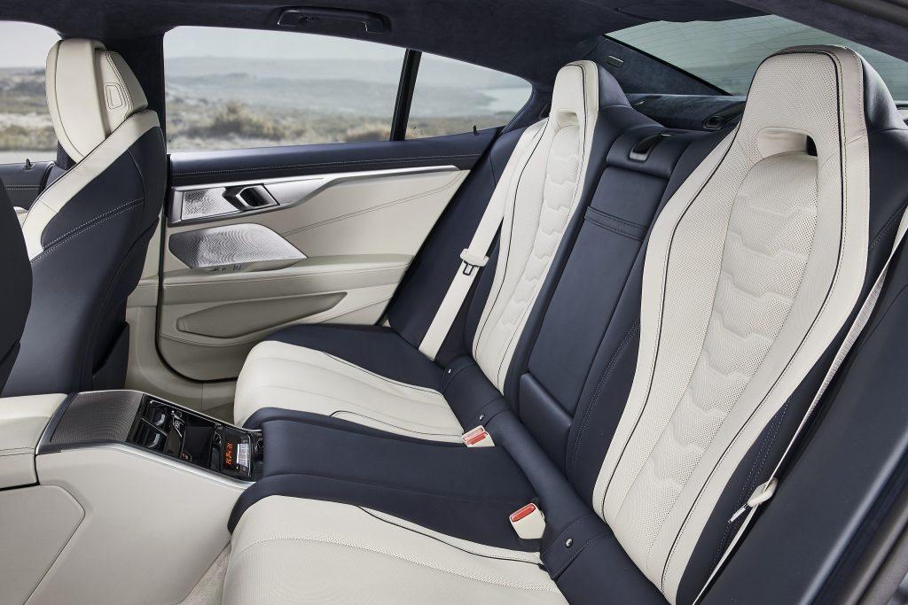 Новый BMW 8 Series Gran Coupe, задние сиденья
