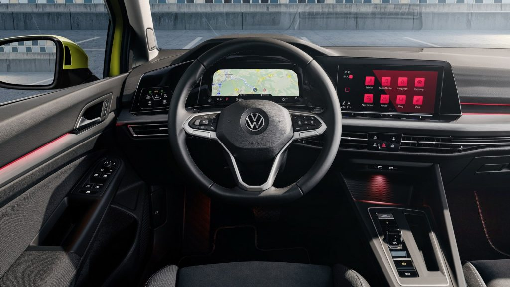 Volkswagen Golf 2020, салон