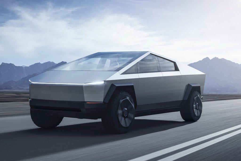 Tesla Cybertruck 2021, вид спереди