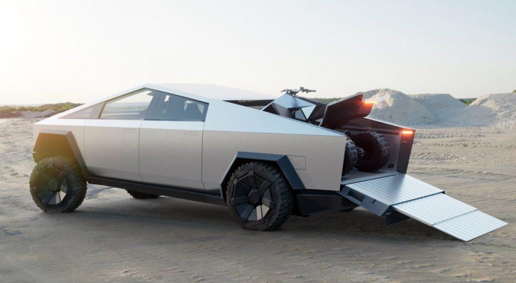 Tesla Cybertruck, грузовая платформа