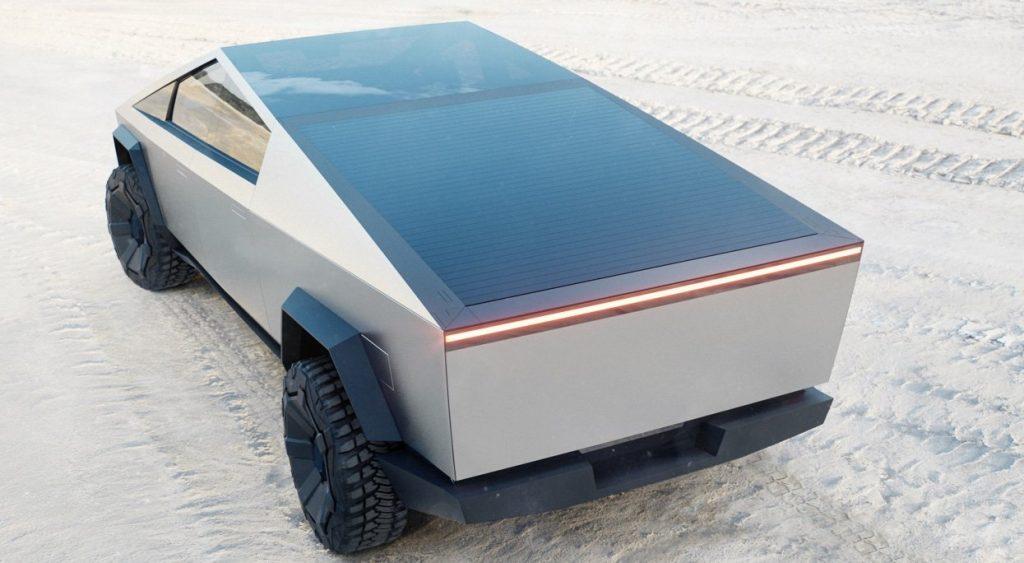 Tesla Cybertruck 2021, вид сзади