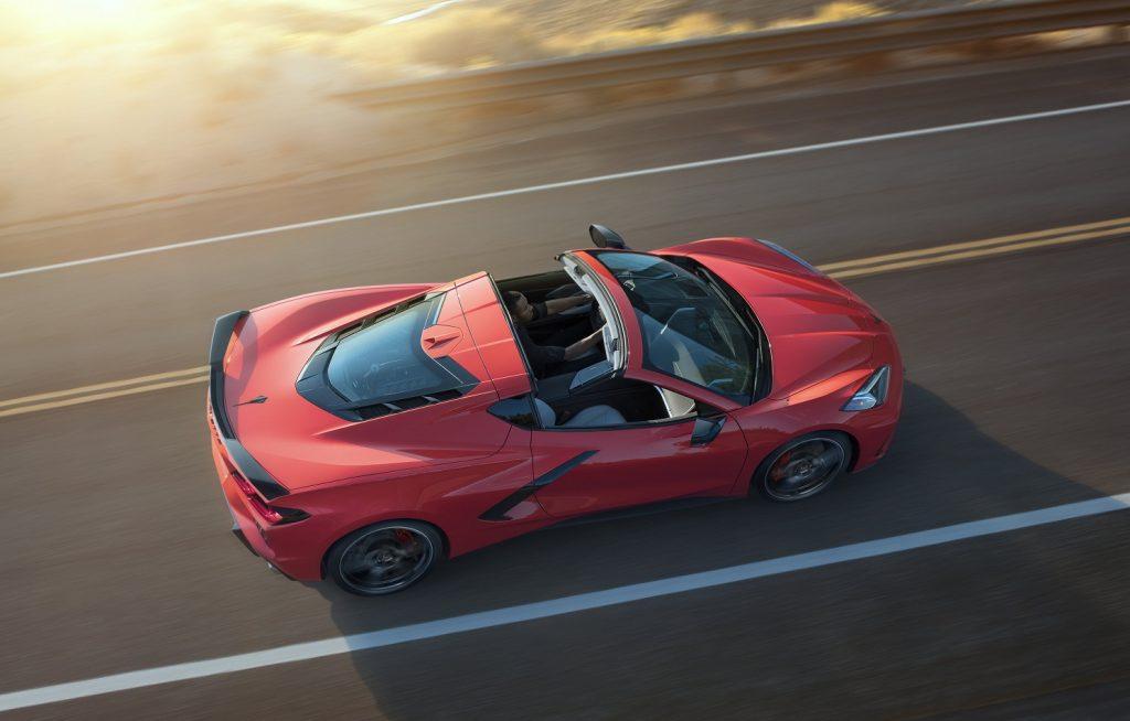 Chevrolet Corvette Stingray 2020, вид сверху