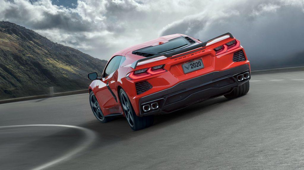 Chevrolet Corvette Stingray 2020, вид сзади