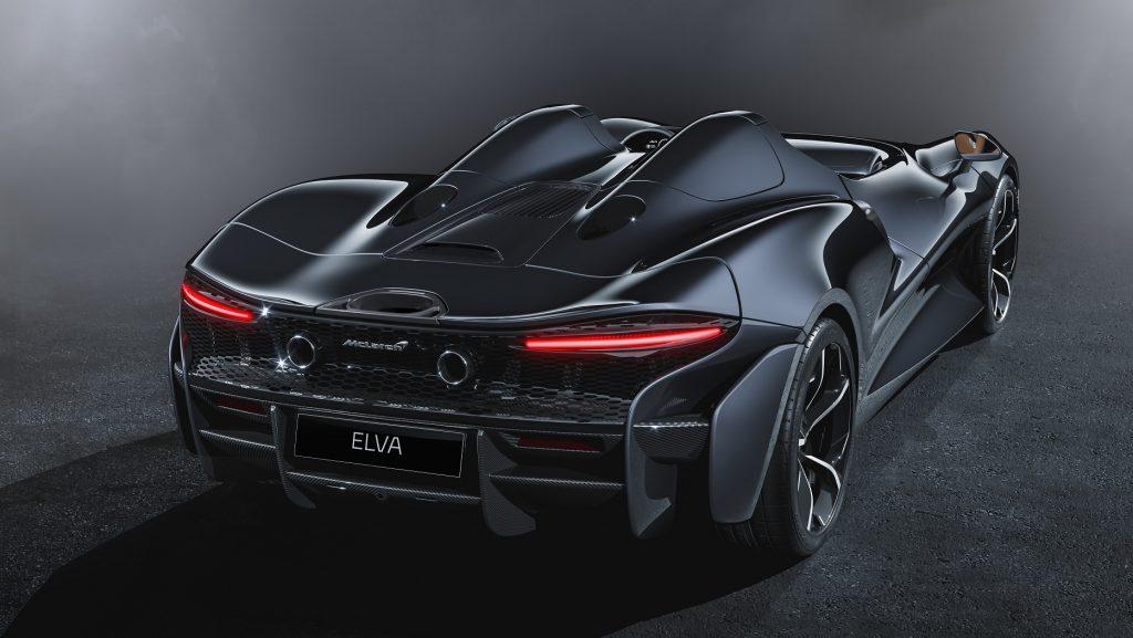 Новый McLaren Elva, вид сзади
