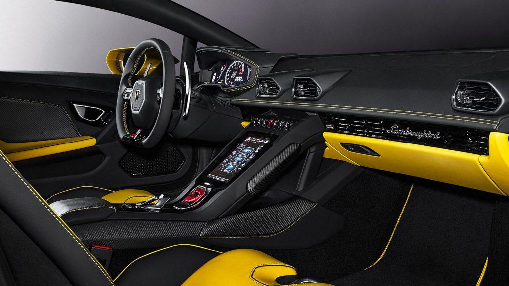 Lamborghini Huracan Evo RWD 2020, салон