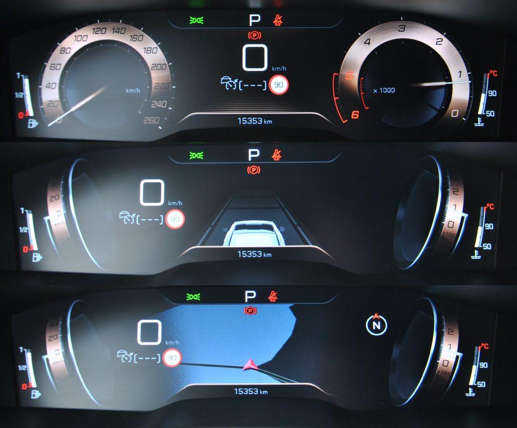 Peugeot 508, цифровая панель приборов
