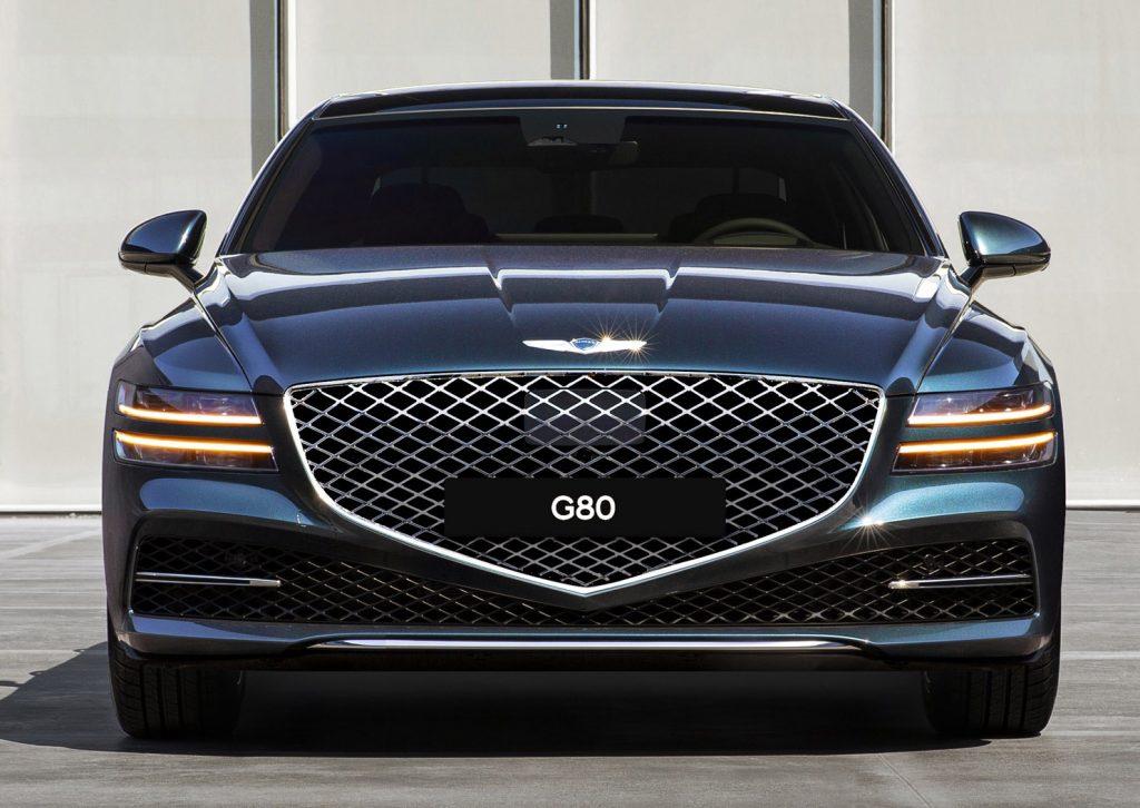 Genesis G80 2020, вид спереди