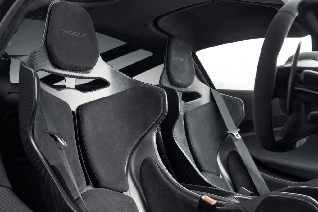 Новый McLaren 765 LT, сиденья