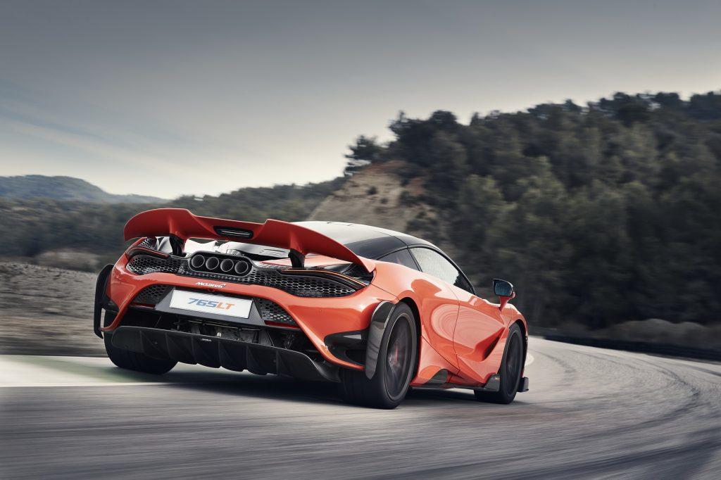 McLaren 765 LT 2020, вид сзади