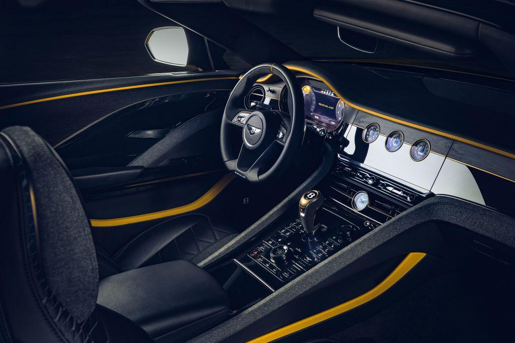 Новый Bentley Mulliner Bacalar, передняя панель