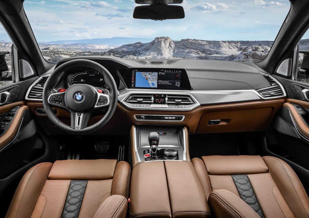 Новый BMW X5M, передняя панель