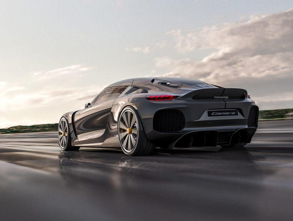 Koenigsegg Gemera, вид на заднюю диагональ