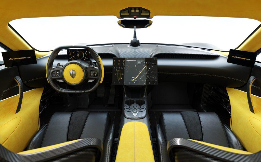 Новый Koenigsegg Gemera, передняя панель