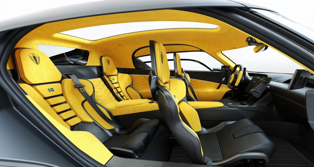 Новый Koenigsegg Gemera, салон